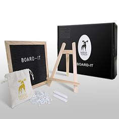 Board-It - Felt Letter Board 10 x 10 black. Lots of letter boards out there, this looks like one of the best gift packs.