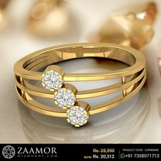 Three Layer Split Band Diamond Floral Ring #zaamordiamonds #zaamor #ring #rings #rings💍 #diamondring #diamondrings #floralring #floralrings #jewelry #jewellery #jewelleryrings #jewelleryring #ringjewelry #gift #specialgift #giftjewelry Gold Rings Jewelry, Womens Jewelry Rings, Baby Jewelry, Gold Ring Designs, Gold Earrings Designs, Mens Gemstone Rings, Gold Finger Rings, Antique Rings, Fashion Rings