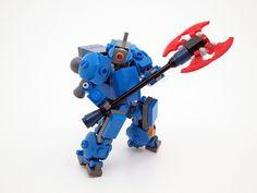 Cobalt Legion - Extra Weapons - Power Axe Lego Mechs, Lego Bionicle, Lego Minifigs, Legos, Lego Bots, Lego Knights, Micro Lego, Lego Army, Cool Lego