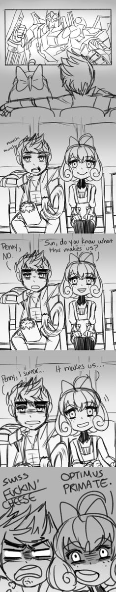 """OMG Penny! <-okay, idc about this ship or whatever, and Penny's pun is wonderful, but can we please talk about Sun saying """"swiss fucking cheese"""" Like, so much yes!"""