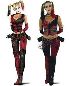 Simply put, Harley Quinn is so popular that she's become Halloween-lovers desire revived. There is no scarcity of Harley Quinn Halloween outfits readily available. However, if you want to Do It Yourself Harley Quinn, here are a few suggestions. Villain Costumes, Sexy Halloween Costumes, Halloween Cosplay, Cool Costumes, Costume Ideas, Cosplay Ideas, Halloween 2014, Women Halloween, Halloween Stuff
