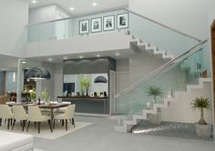 Home | Fernando Farinazzo Arquitetura Home Stairs Design, Interior Stairs, Dream Home Design, Home Interior Design, Dream House Plans, Modern House Plans, Home Deco, Modern Stairs, House Stairs