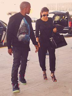 Like her outfit and shoes - #KimYe - popculturez.com 1