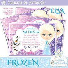 Invitaciones para imprimir Frozen
