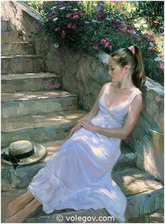 Gallery of artist Vladimir Volegov, portraits of very beautiful women. L'art Du Portrait, Female Portrait, Female Art, Painting People, Woman Painting, Figure Painting, Beautiful Drawings, Beautiful Paintings, Vladimir Volegov