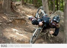 Ridiculously photogenic downhill rider.