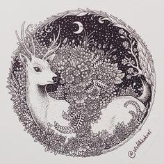 Illustrations by Visothkakvei Mandala Art, Mandala Drawing, Kunst Inspo, Art Inspo, Motifs Organiques, Circle Drawing, Doodle Art Designs, Doodle Art Drawing, Ink Pen Drawings