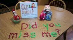 "This may be how our ""elfis"" comes back this year! I can't wait! :)"