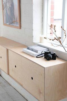 Plywood furniture design modern storage New Ideas Plywood Furniture, Modern Storage Furniture, Custom Furniture, Antique Furniture, Arrange Furniture, Modern Furniture Design, Steel Furniture, Industrial Furniture, Modern Design