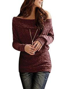 #OutfitOfTheDay #Beautiful Features: #Boat neck, long sleeve. gold tone zipper decor front, burgundy knitting sweater. The model in picture is 5ft 3inches in hei...