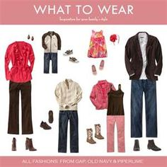 Inspiration for Clothing Combos for Family Portraits