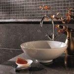 dark tile 150x150 Bathroom Tile Design Ideas