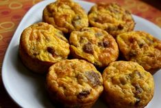sundried tomato and sausage egg cupcakes.