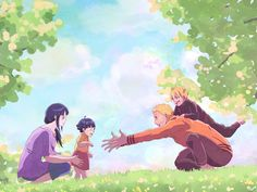 """After pulling an all-nighter, Naruto always comes back home in the early morning; to get changed and, above all, to get his """"Hinata fix"""" Support Me on K. Hinata fix Naruto Kakashi, Anime Naruto, Naruto Shippuden Sasuke, Anime Chibi, Naruto Gaiden, Naruto Teams, Naruto Cute, Naruhina, Familia Uzumaki"""