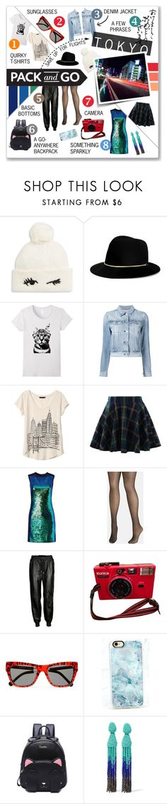 """""""Winter Getaway: Tokyo"""" by singingintherain-788 ❤ liked on Polyvore featuring Kate Spade, Janessa Leone, 3x1, Banana Republic, Chicwish, Shoshanna, Avenue, VIPARO, Preen and Casetify"""