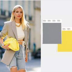 """Цвет года 2021 Pantone - Желтый «Illuminating» и серый «Ultimate Grey» выступят в 2021 году как дополняющие тона, чтобы """"поддерживать друг друга"""". #pantone #color #colorPantone2021 #colortrend #color2021 #colorofyard #colorinspiration #цветгода2021 #цветгодаПантон #цветгода #ColorTrends  Girl Fashion, Fashion Dresses, Color Of The Year, Pantone Color, Spring Collection, Simple Dresses, Color Trends, New Outfits, I Dress"""