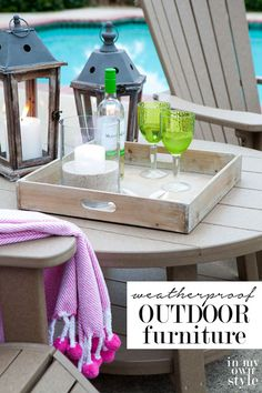 If you are looking for Eco-Chic outdoor furniture...you are going to love this brand of  American made furniture.   In My Own Style