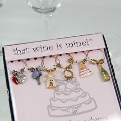 I Do Pewter Wine Charms