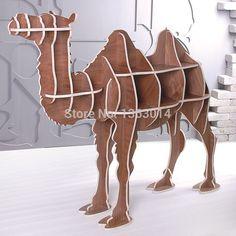 "J&E High-end 51.5"" wooden camel furniture wood book case bookshelf self-build puzzle furniture"