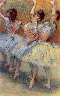 Three Dancers - Edgar Degas:                                                                                                                                                      Mais