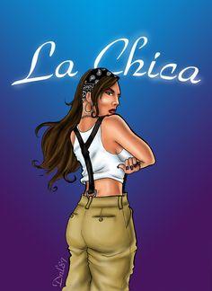 La Chica by on DeviantArt Cholo Art, Chicano Art, Skull Girl Tattoo, Girl Tattoos, Arte Latina, Chola Girl, Prison Art, Lowrider Art, Brown Pride