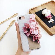3D Blossom Cherry Flower Petal Case Cover for iPhone 6 6S 7 Plus