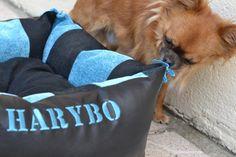 Harybo en train de découvrir son dodosdouillet de chez dodosdouillets.com