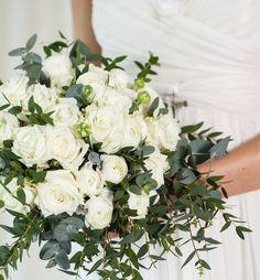 Vintage brudebukett i hvitt