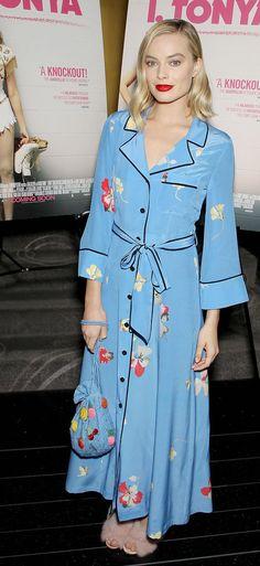 Margot Robbie wearing Ganni