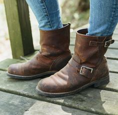 More patina and comfort with every step, the Short Engineer in Copper Rough & Tough is a no-fuss option for busy women. #redwingwomen #redwingheritage