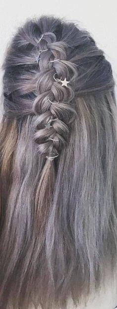 Stars hair rings, braid accessories, hair hoop, rings for hair, jewelry for braid, rings beads jewelry, unique hair rings