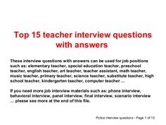Behavioral Interviewing Guide - Interview Questions and Answers ...
