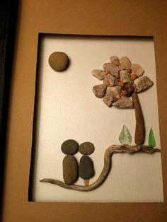 regalo+de+compromiso+único+arte+de+piedra+por+madebynatureandme