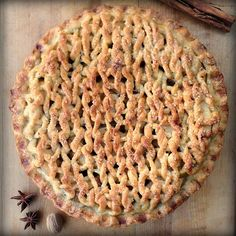 Amazing knitted pie crust topping from Knits for Life on Ravelry.