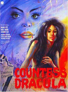 Countess Dracula (1971) Hammer Film, with Ingrid Pitt - Movie Poster https://www.youtube.com/user/PopcornCinemaShow