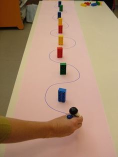 Clever fine motor activity! Draw around the obstacles.