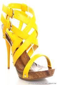 Yellow High Heel Sandal