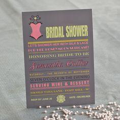 Lingerie Bridal Shower Bachelorette Printable Invitation