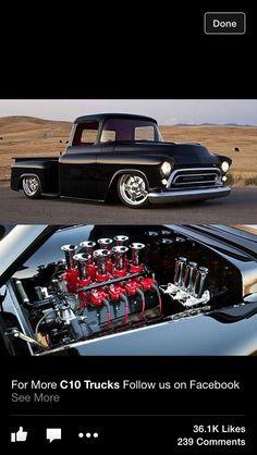 Old Pickup Trucks, Hot Rod Trucks, Gm Trucks, Cool Trucks, Cool Cars, Chevy Stepside, Chevy Pickups, 1955 Chevrolet, Chevrolet Trucks