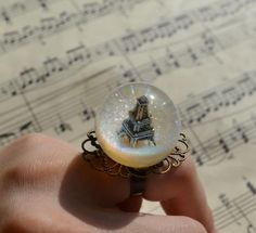 """Ring sphere """"Paris"""" of the epoxy resin. """"Discussion LiveInternet - Russian Service Online Diaries"""
