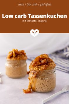 Low carb Tassenkuchen mit Bratapfel Topping | Koch mit Herz Low Carb Meal, Low Carb Dessert, Food Styling, French Toast, Food Photography, Muffins, Clean Eating, Cupcakes, Baking