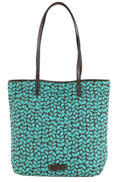a980efbb3bc9 Day Tote in Shower Vines with Brown Trim Vera Bradley Handbags