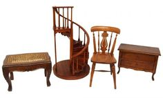 antique architectural miniature model staircases for sale | Miniature Spiral Staircase