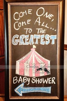 circus theme idea for marquee or welcome sign