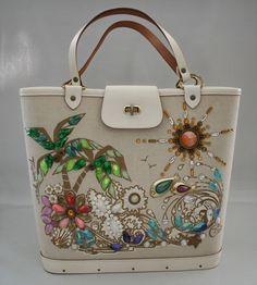 Enid Collins Vintage Tropical Treat Jeweled Hand Bag Purse | eBay
