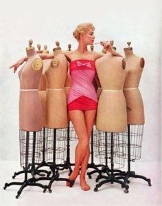 Jean Patchett wearing Dior/Cole swimwear, 1956.