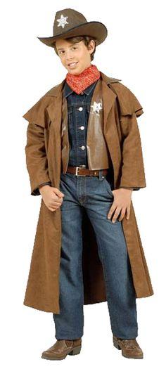 08e93cc1d29 Cowboy Duster Coat Childrens Wild West Fancy Dress Costume  DJ05738C     Karnival Costumes