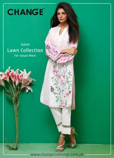 Stylish Lawn Collection For Casual Wear Visit www.changeclothings.com.pk #Change #Summer #Collection
