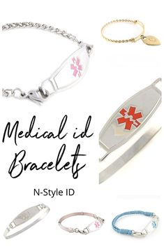 Lightweight Medical ID Bracelet Diabetic Bracelets, Medical Id Bracelets, Seizures, Epilepsy, Alzheimers, Bracelet Designs, Stainless Steel Bracelet, Breast Cancer, Allergies