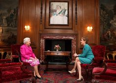 The Queen holds an audience with @ScotGovFM Nicola Sturgeon at the Palace of Holyroodhouse #QueeninScotland 4 July 2016